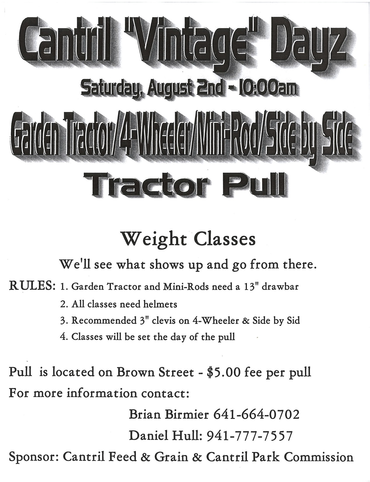 Cantril Dayz Tractor Pull
